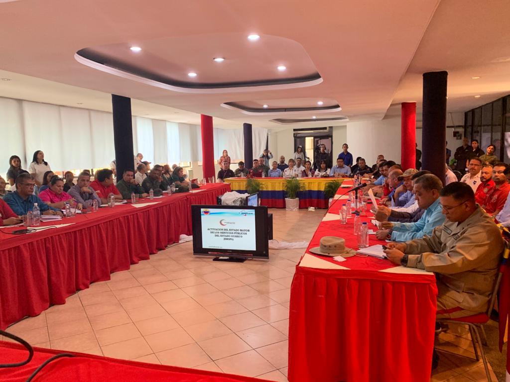 Activación del estado mayor de los servicios públicos en el estado Guárico
