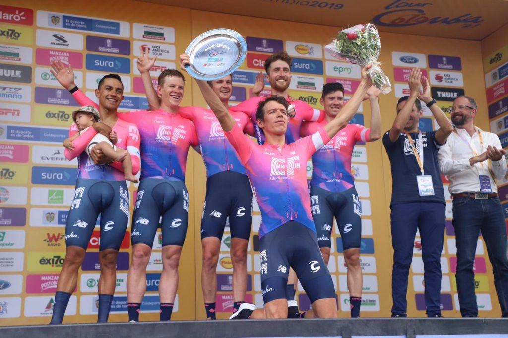 Education First gana la contrarreloj por equipos en el Tour Colombia 2020