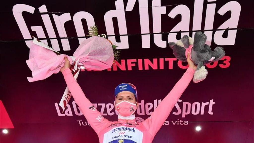 Filippo Ganna vuela en Valdobbiadene y Almeida refuerza la maglia rosa