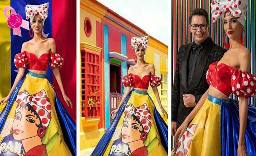 El traje Pop Art de Harina Pan ganó Semana de la Moda de Los Ángeles