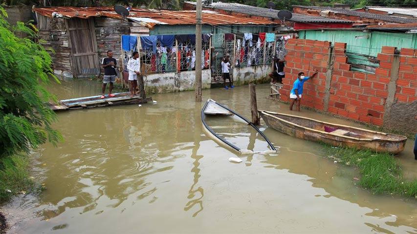 Estragos del huracán Iota en Colombia