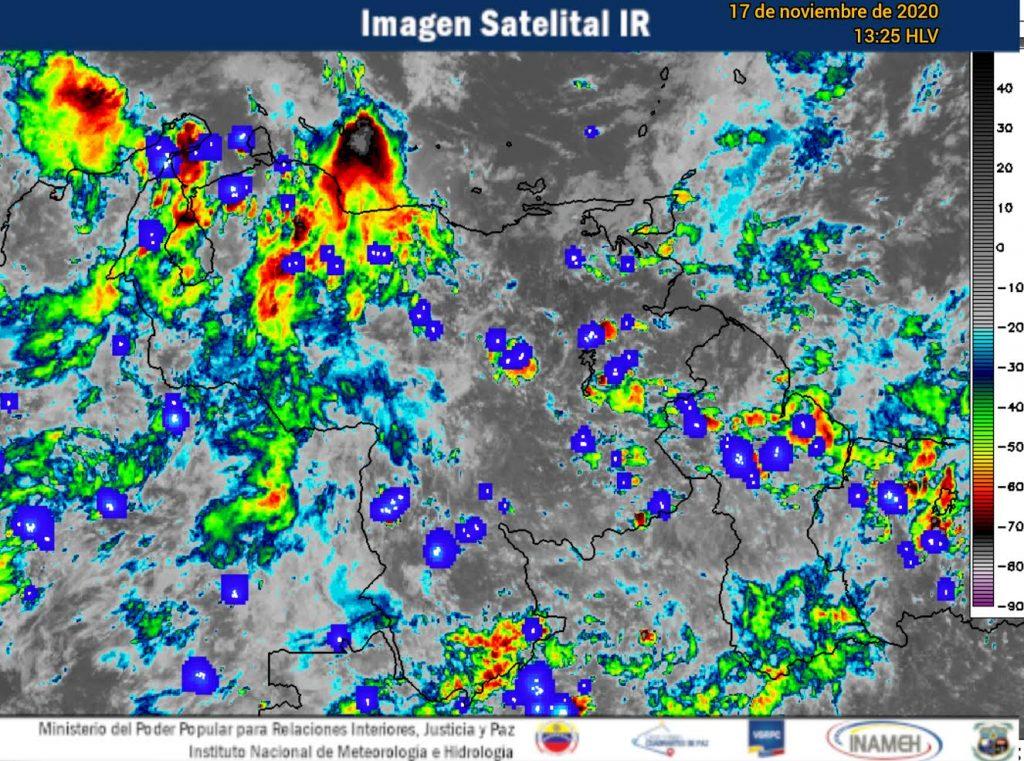 Se incrementará la actividad de lluvias en horas de la tarde en gran parte del territorio venezolano