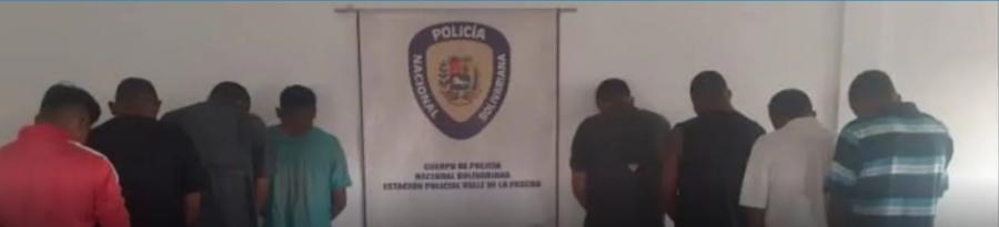 Detenidos 8 hampones de banda de Guárico