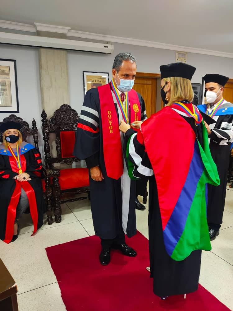 UBA confirió Doctorado Honoris Causa al presidente del Circuito Judicial Penal de Aragua
