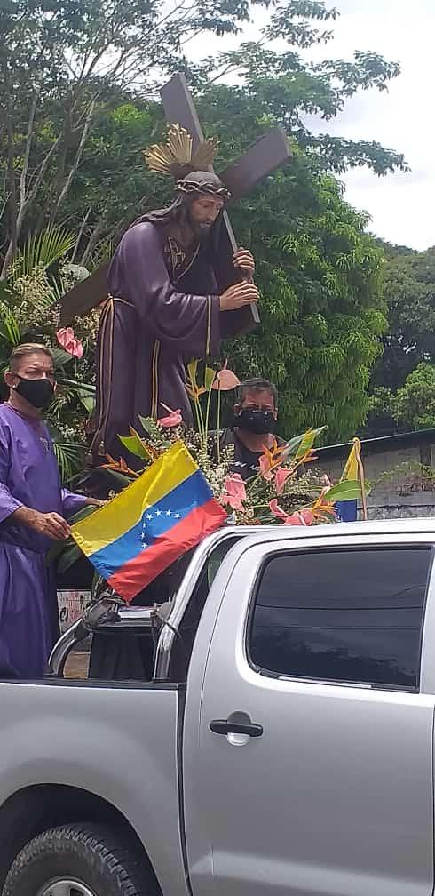 Nazareno de San Pablo bendice la Población de San Juan de los Morros Capital del estado Guárico