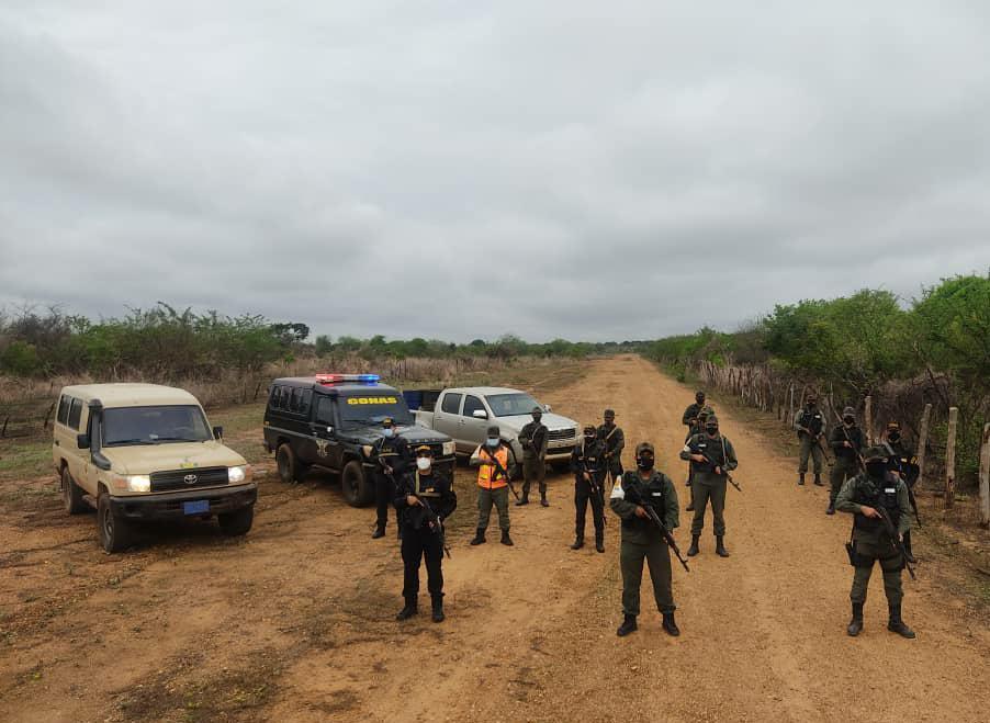 Guardia Nacional del Guárico localizan un Centro de Operaciones de Logísticas del Narcotrafico