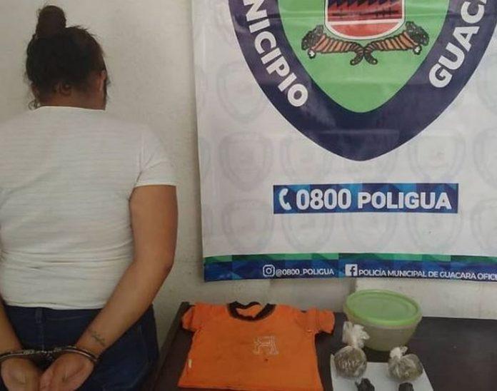 Detenida mujer que pretendía ingresar drogas a calabozos de la Policía de Guacara