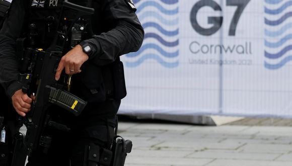 Siete detenidos cerca del G7 por llevar «granadas de humo»