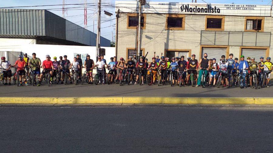 Ciclistas de San Juan de los Morros Celebran