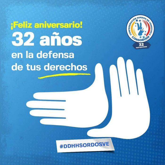 Consorven cumple 32 años en la promoción y defensa de los derechos de las personas Sordas en Venezuela