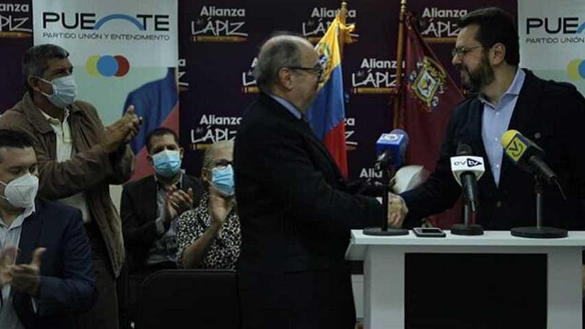 Alianza Lápiz se combina con el partido Puente de cara al 21-N