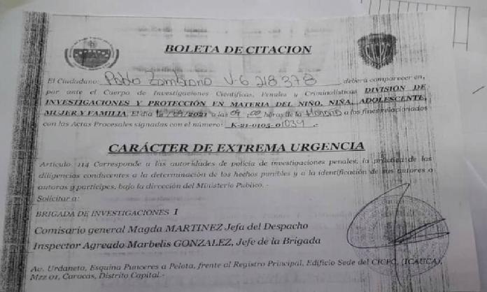 CICPC cita al dirigente sindical de Salud Pablo Zambrano
