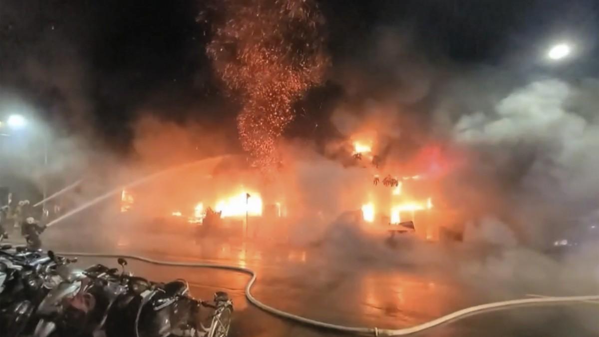 Suben a 46 los muertos en un incendio en el sur de Taiwán